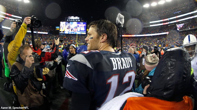 Tom Brady celebrates his 6th Super Bowl appearance. (Courtesy of NFL.com)