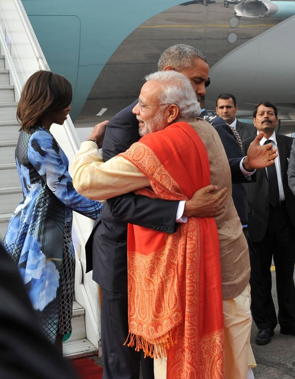 U.S. President Barack Obama on a three-day visit to India