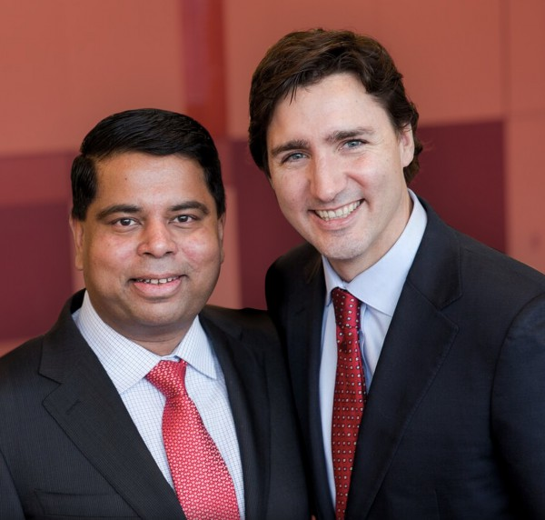 Gary Anandasangaree with Justin Trudeau