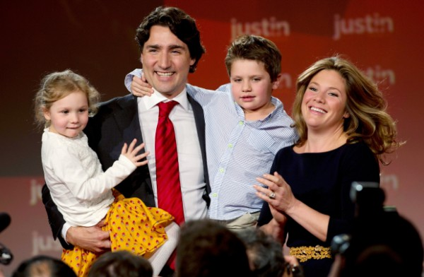 "Justin Trudeau becomes Canada's new Prime Minister and is ""now ready"" to make a ""real change"""