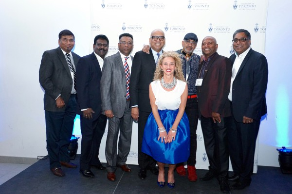 Mike Ahilan, Past President, CTCC (Canadian Tamils' Chamber of Commerce, Kula Sellathurai, Past President, CTCC, Ajith Sabaratnam, President, CTCC, Kanish Thervarasa, Georgette Zinaty , Ravi Gukathasan, Rajee Muthuraman, Stan Muthulingam, President & CEO, The CableShoppe Inc.