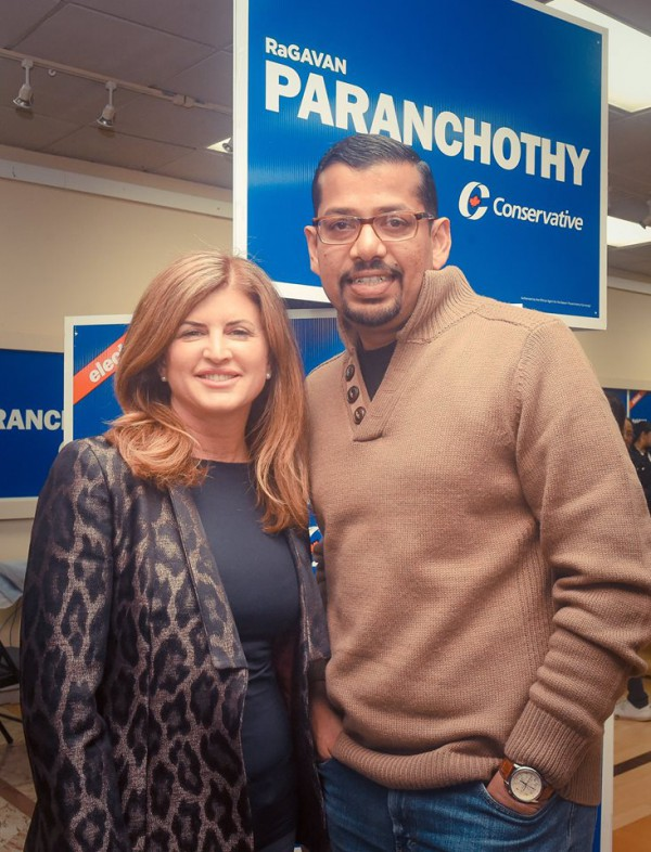 Ragavan Paranchothy with PC Interim Leader  Rona Ambrose